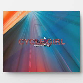 TOP Motorcycle Girl Display Plaques