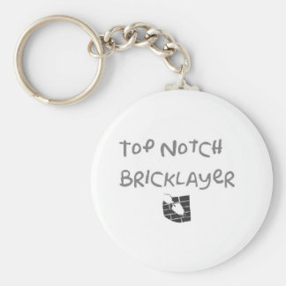 Top notch bricklayer basic round button key ring