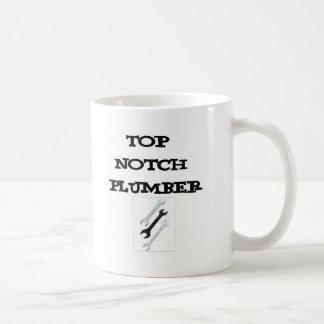 top notch plumber basic white mug