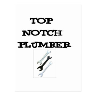 top notch plumber postcard