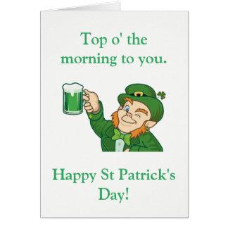 Top o The Morning Card