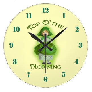Top o the Morning Irish Lass Wall Clock