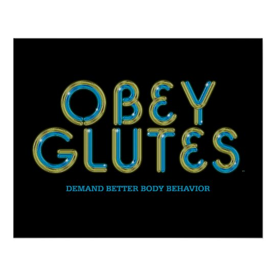 TOP Obey Glutes Poster