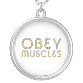 TOP Obey Muscles Personalized Necklace