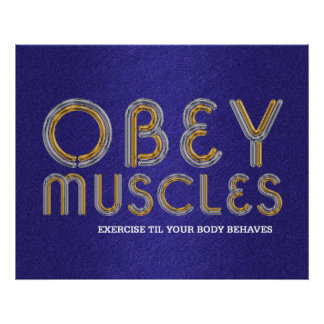TOP Obey Muscles Poster