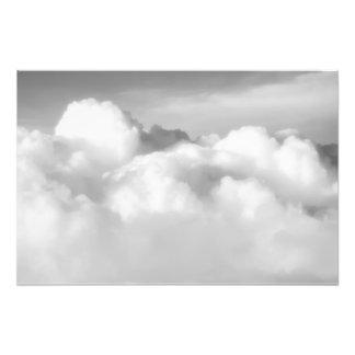 Top of cumulus nimbus. photographic print