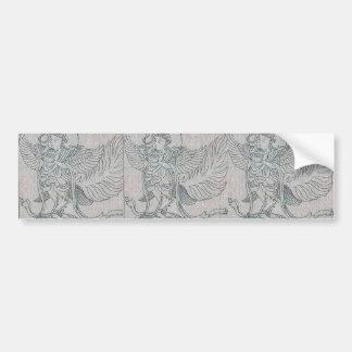Top of imp carriage, bronze, by ancient Ukiyo-e. Bumper Sticker