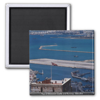 Top of Oldmoore Castle and Runway, Gibraltar Square Magnet