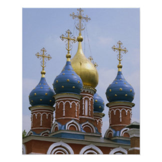 Top of Russian Orthodox Church in Russia Poster