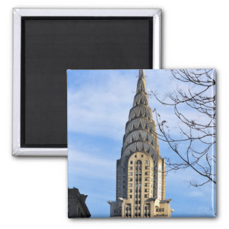Top of the Chrysler Building Bare Trees Magnet