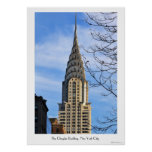 Top of the Chrysler Building, Bare Trees Poster