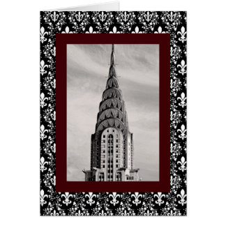 Top of the Chrysler Building NYC - B&W Card