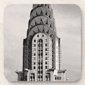 Top of the Chrysler Building NYC - B&W Coaster