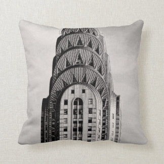 Top of the Chrysler Building NYC - B&W Throw Pillow