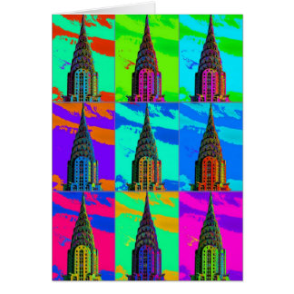 Top of the Chrysler Building Pop Art Card