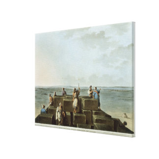 Top of the First Pyramid of Gizah, plate 4 from 'V Canvas Print