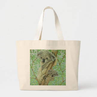 Top of the tree large tote bag
