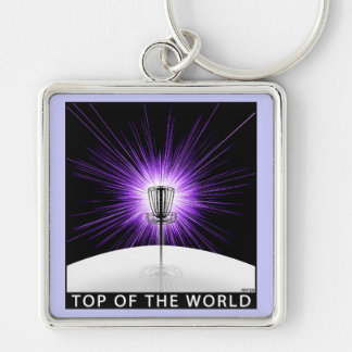 Top of The World Silver-Colored Square Key Ring