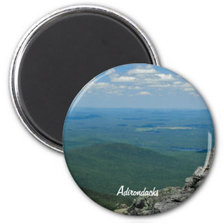 Top of Whiteface Mountain, Adirondacks, NY 6 Cm Round Magnet
