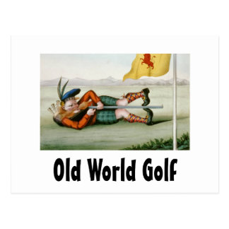 TOP Old World Golf Postcard