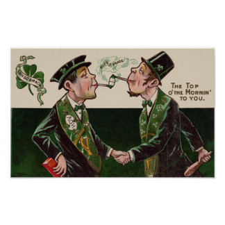 Top o'the Mornin' Vintage St. Patrick's Day Poster