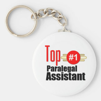 Top Paralegal Assistant Basic Round Button Key Ring