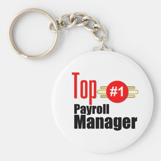 Top Payroll Manager Basic Round Button Key Ring