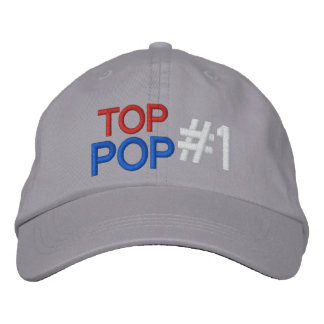 Top Pop #1 Embroidered Baseball Caps
