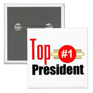 Top President Pinback Buttons