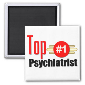 Top Psychiatrist Square Magnet