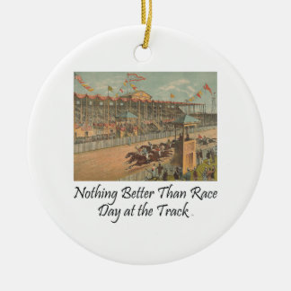 TOP Race Day at the Track Christmas Ornament