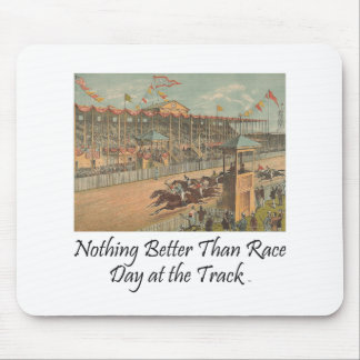 TOP Race Day at the Track Mouse Mat