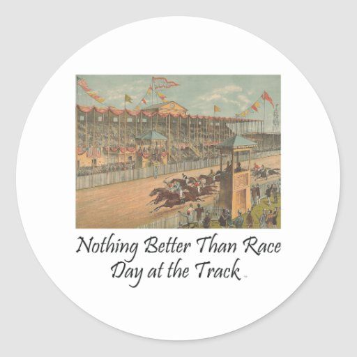 TOP Race Day at the Track Stickers