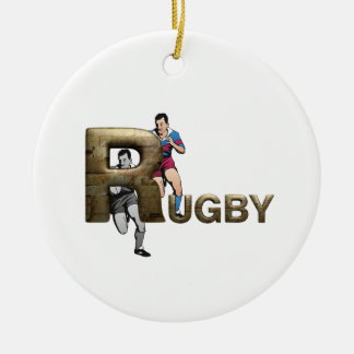 TOP Rugby Christmas Ornament