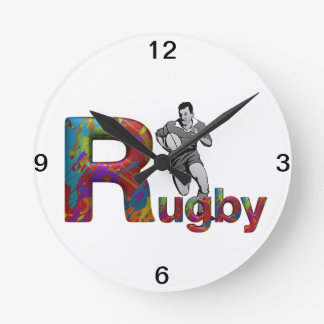 TOP Rugby Round Clock