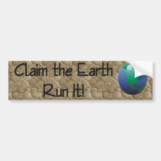TOP Runner's Earth Bumper Sticker