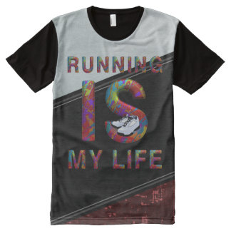 TOP Running is My Life All-Over Print T-Shirt
