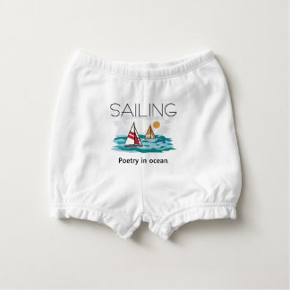 TOP Sail Poetry Nappy Cover