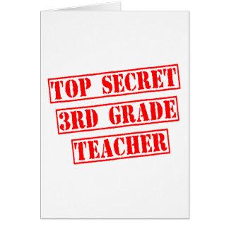 Top Secret 3rd Grade Teacher Card