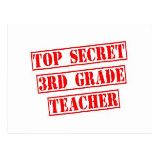 Top Secret 3rd Grade Teacher Postcards