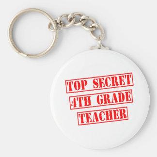Top Secret 4th Grade Teacher Key Chains