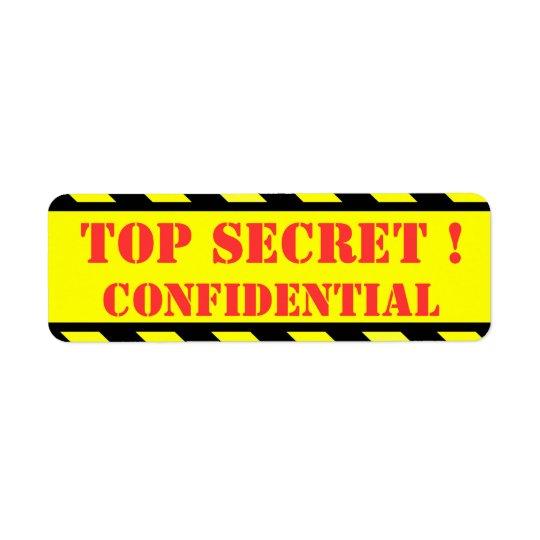 top secret - confidential