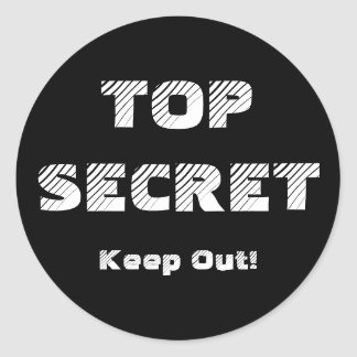 Top Secret Confidential Labels Round Sticker