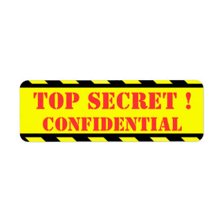 top secret - confidential return address label