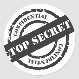 Top Secret Confidential Round Sticker