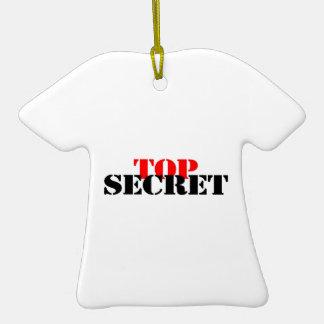Top Secret Double-Sided T-Shirt Ceramic Christmas Ornament