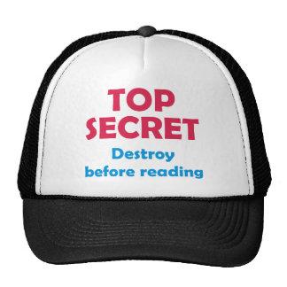 Top secret Destroy before reading Mesh Hats