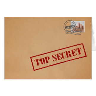 Top Secret Envelope Greeting Card