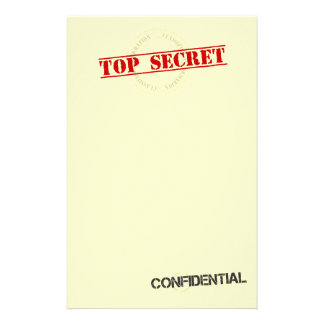 Top Secret Fun Stationary Stationery