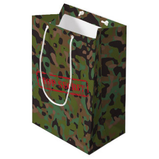 Top Secret GI Camouflage Party Gift Bag